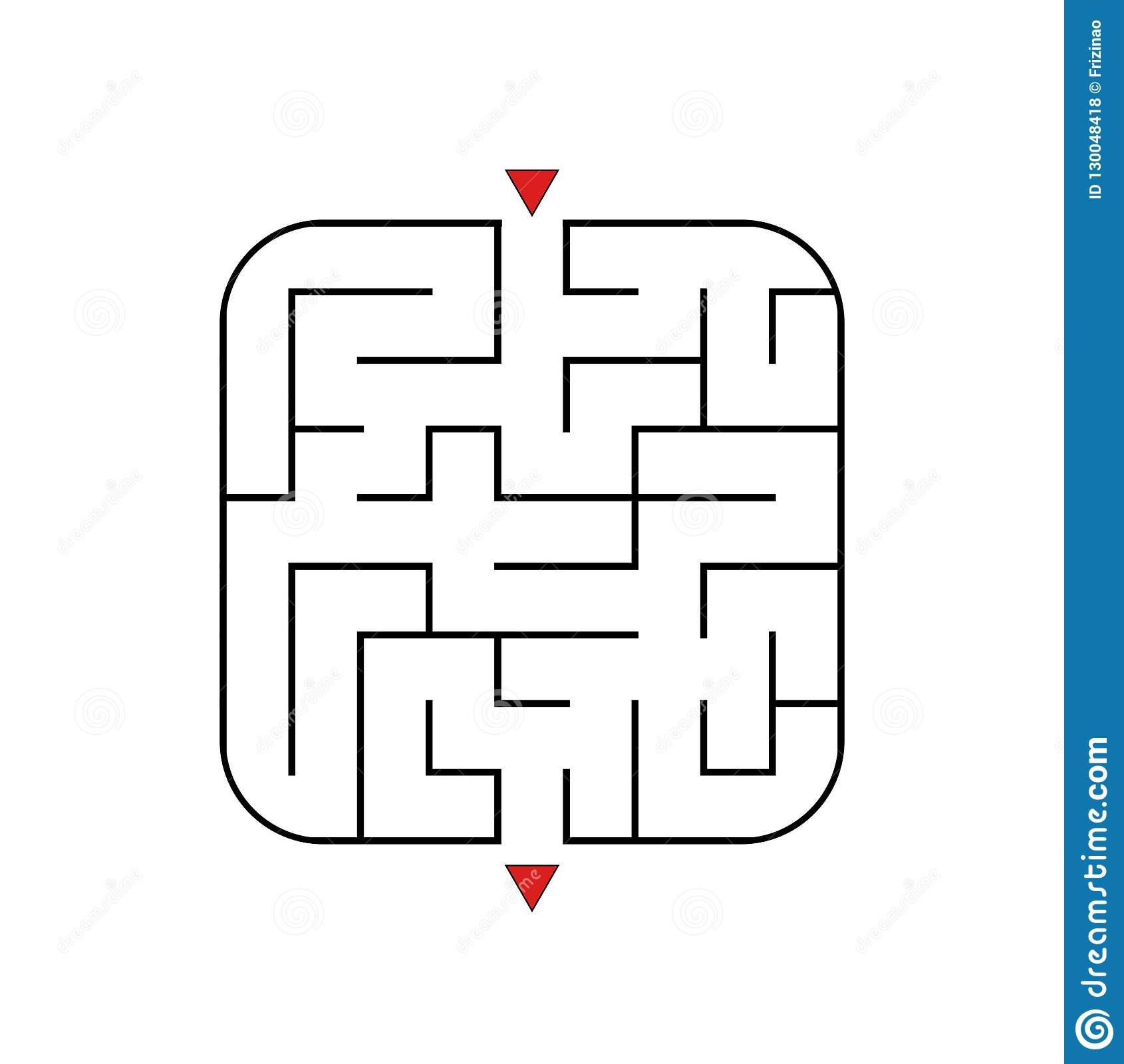 Abstract Square Maze  Easy Level Of Difficulty  Game For