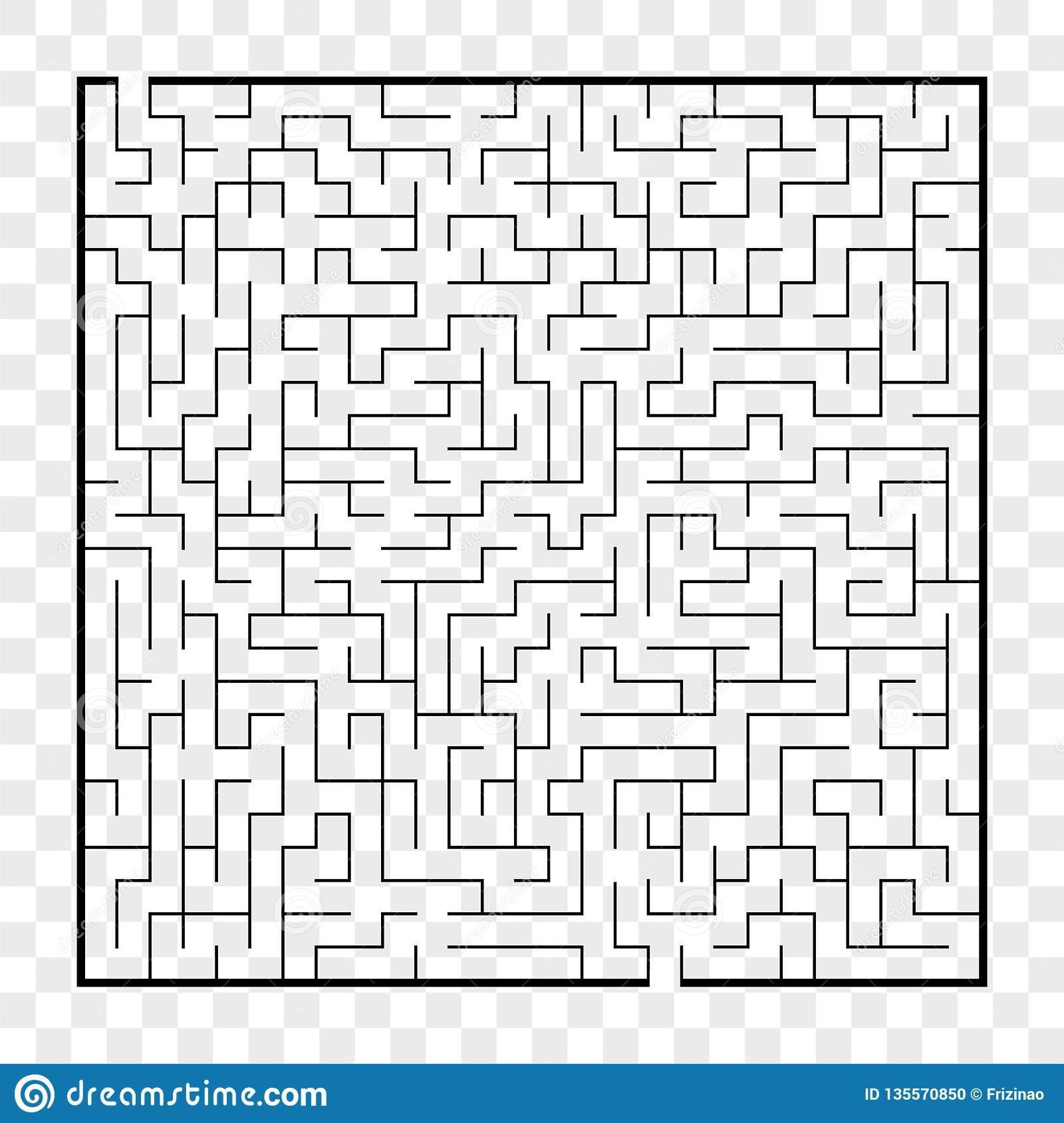 Abstract Square Maze  Game For Kids  Puzzle For Children Labyrinth