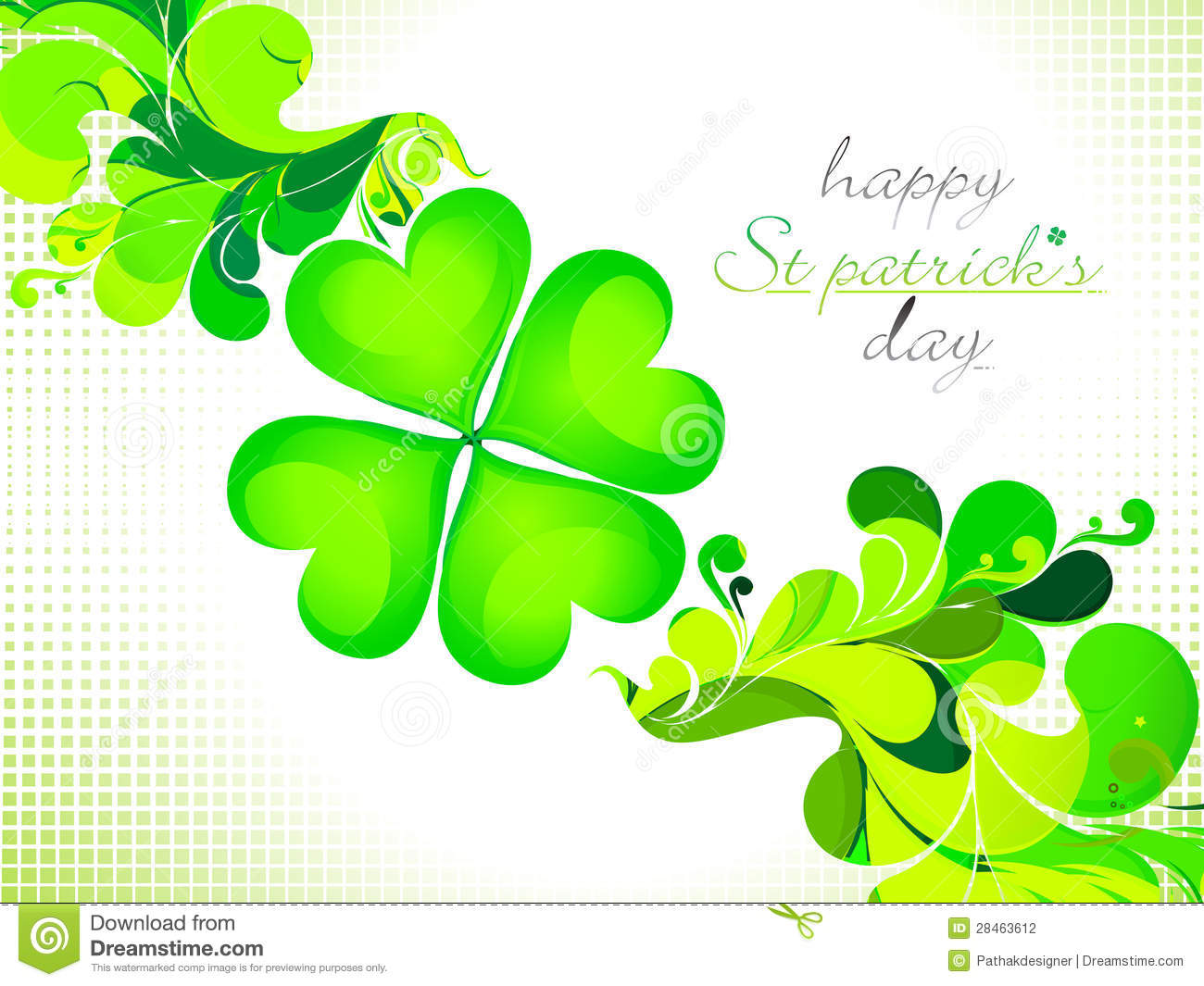 abstract st patrick theme -#main