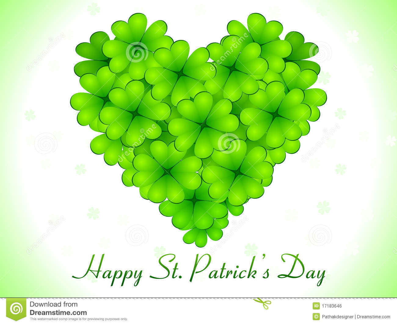 Abstract St Patricks Day Card Stock Vector Illustration Of