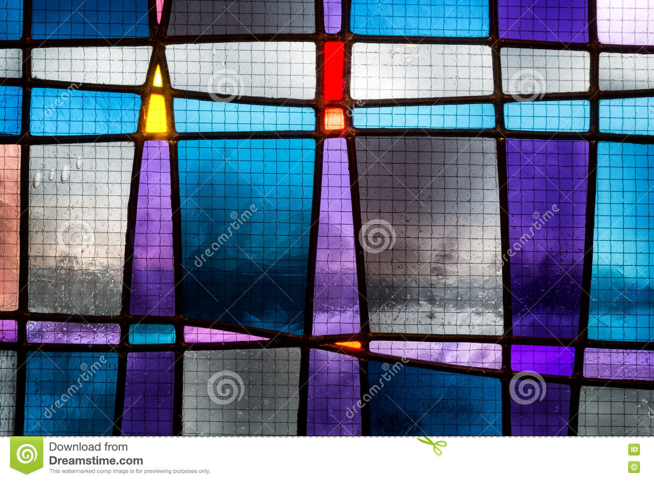 Abstract stained glass detail