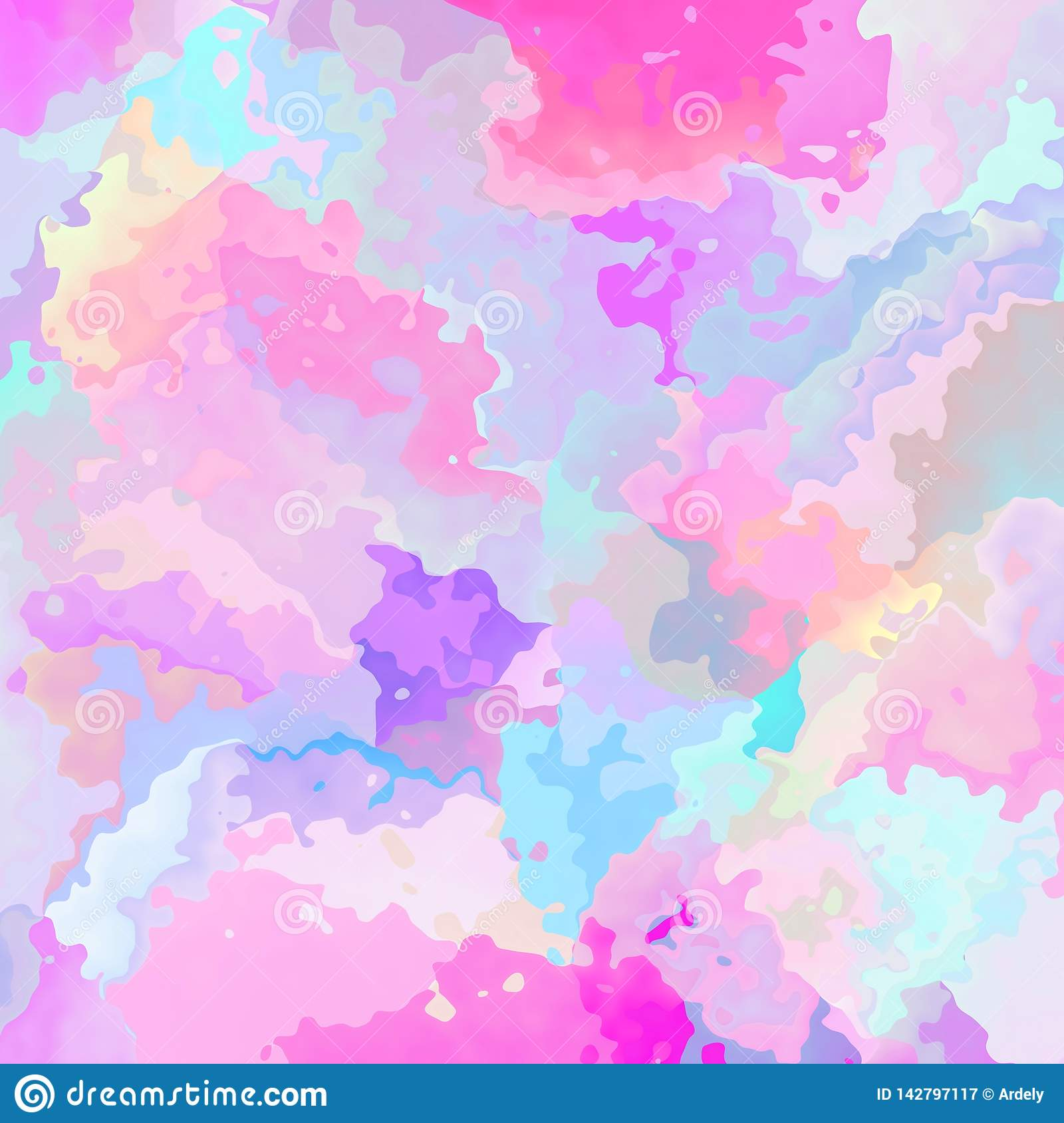 Abstract Stained Square Background Cute Pastel Baby Pink Blue