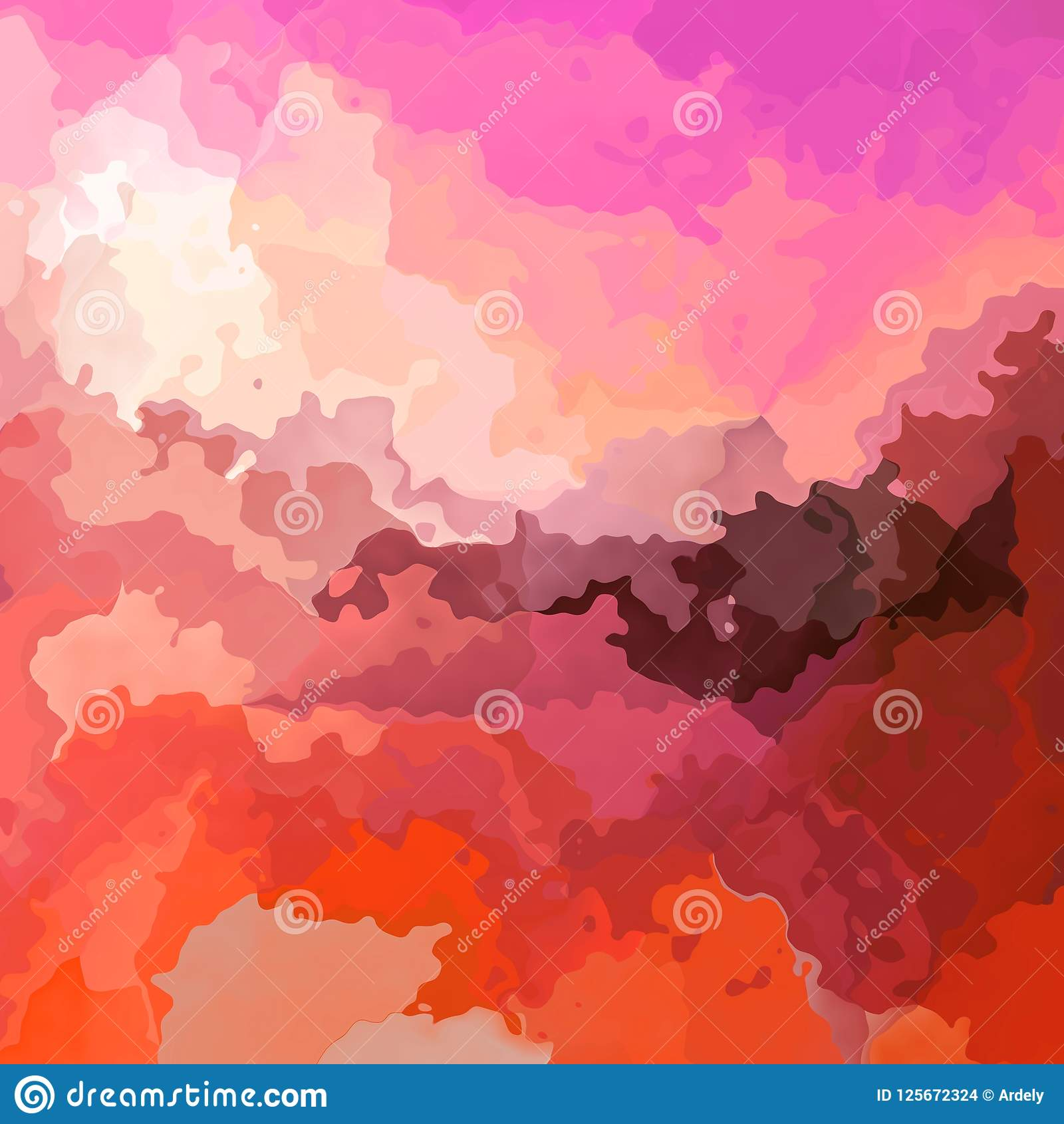 Stained Pattern Texture Square Background Hot Pink Orange