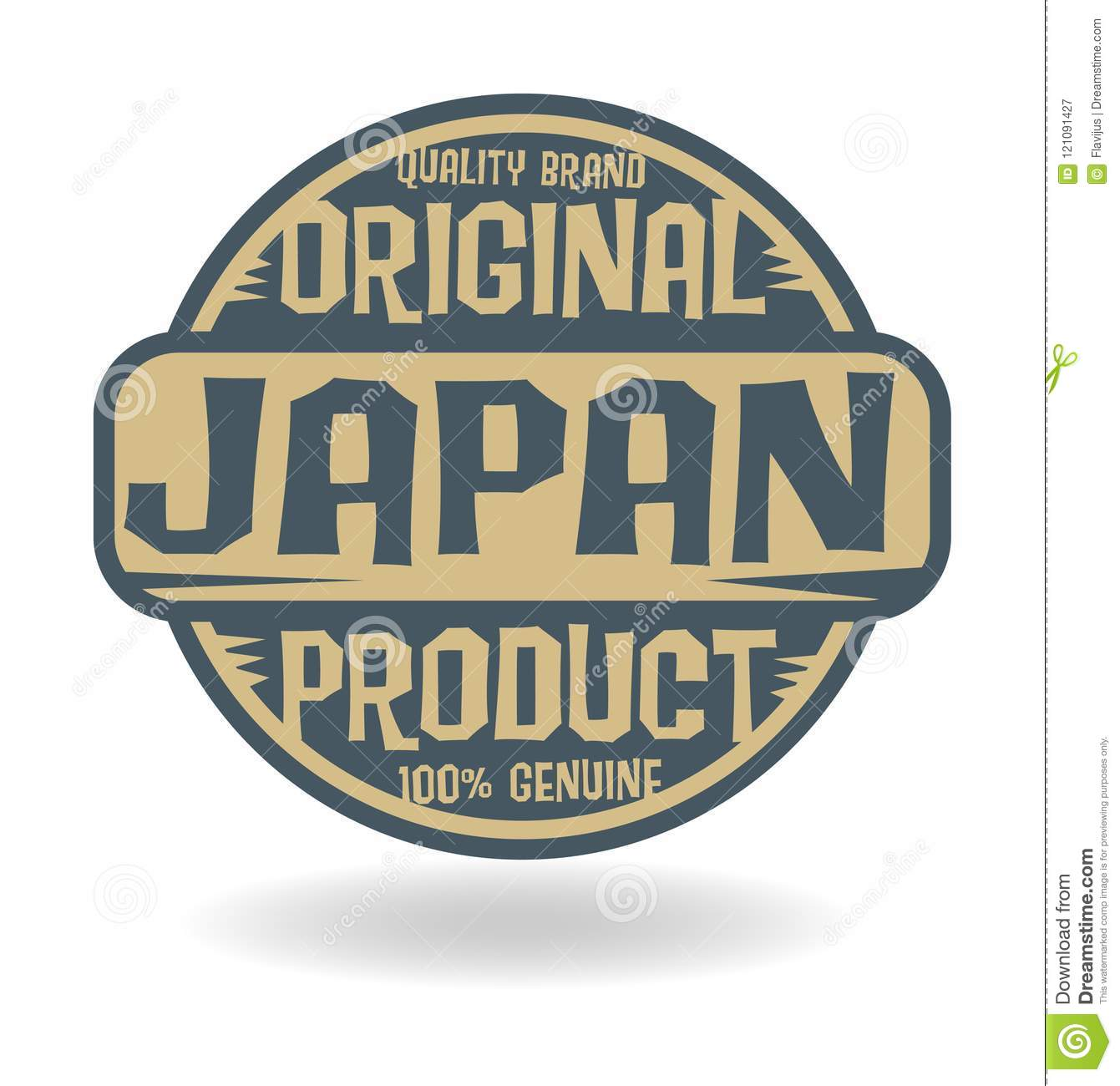 Abstract stamp with text Original Product of Japan