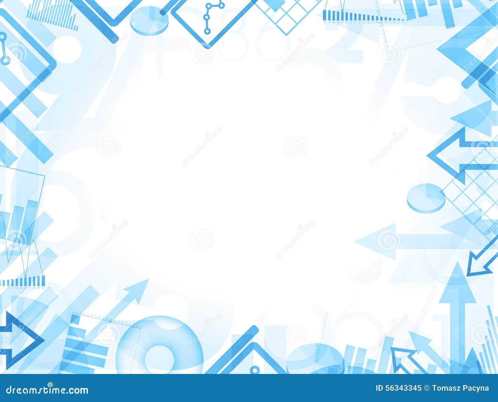 Abstract Statistics Blue Background Frame Border Stock Illustration ...