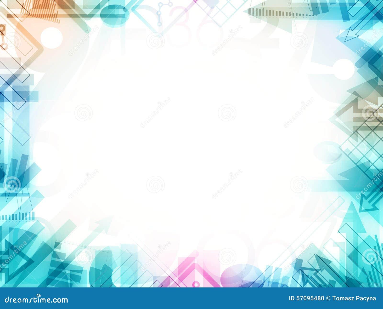 Abstract Statistics Frame Border Stock Illustration - Illustration ...