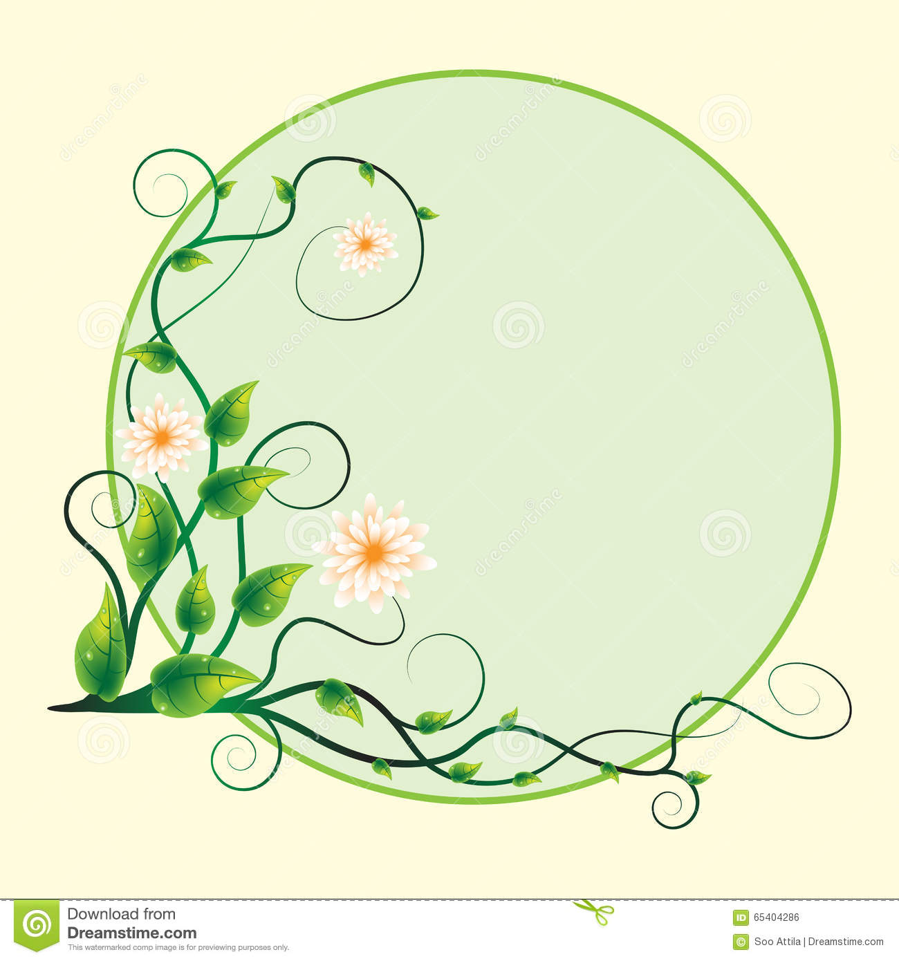 Abstract sticker background swirl flower
