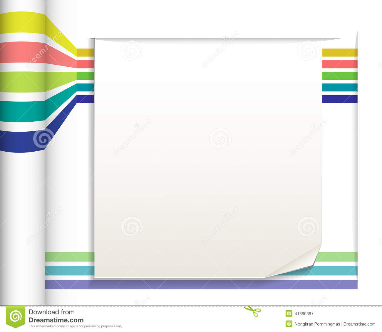 abstract straight lines with white paper background stock vector