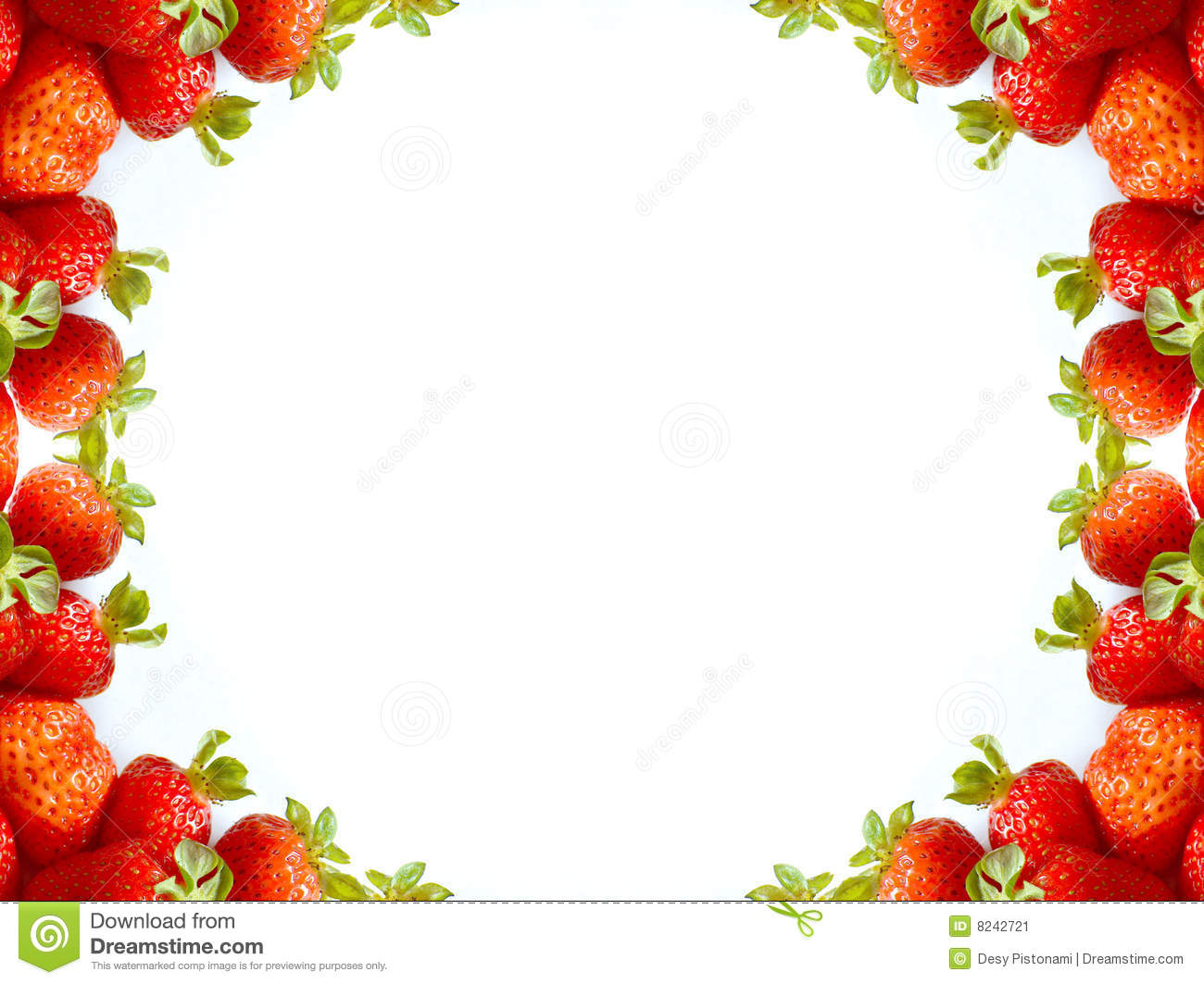 Abstract Strawberry Frame Stock Image - Image: 8242721