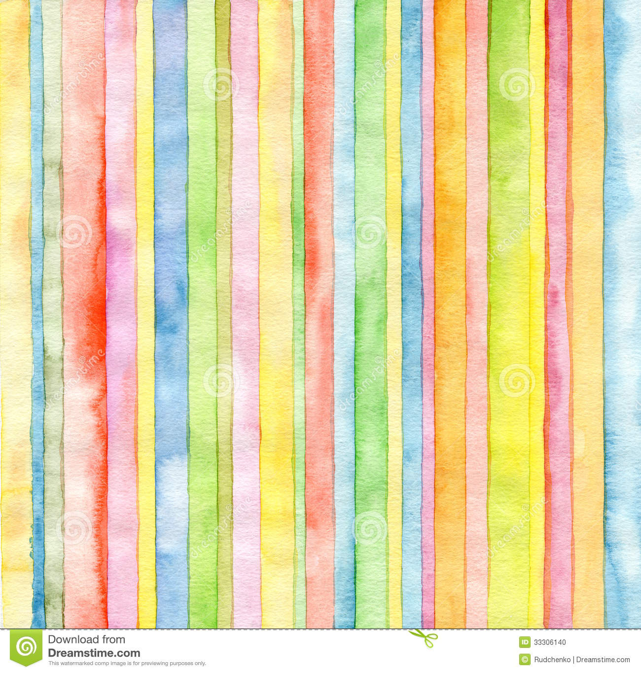 Abstract Strip Watercolor Background Stock Photo Image