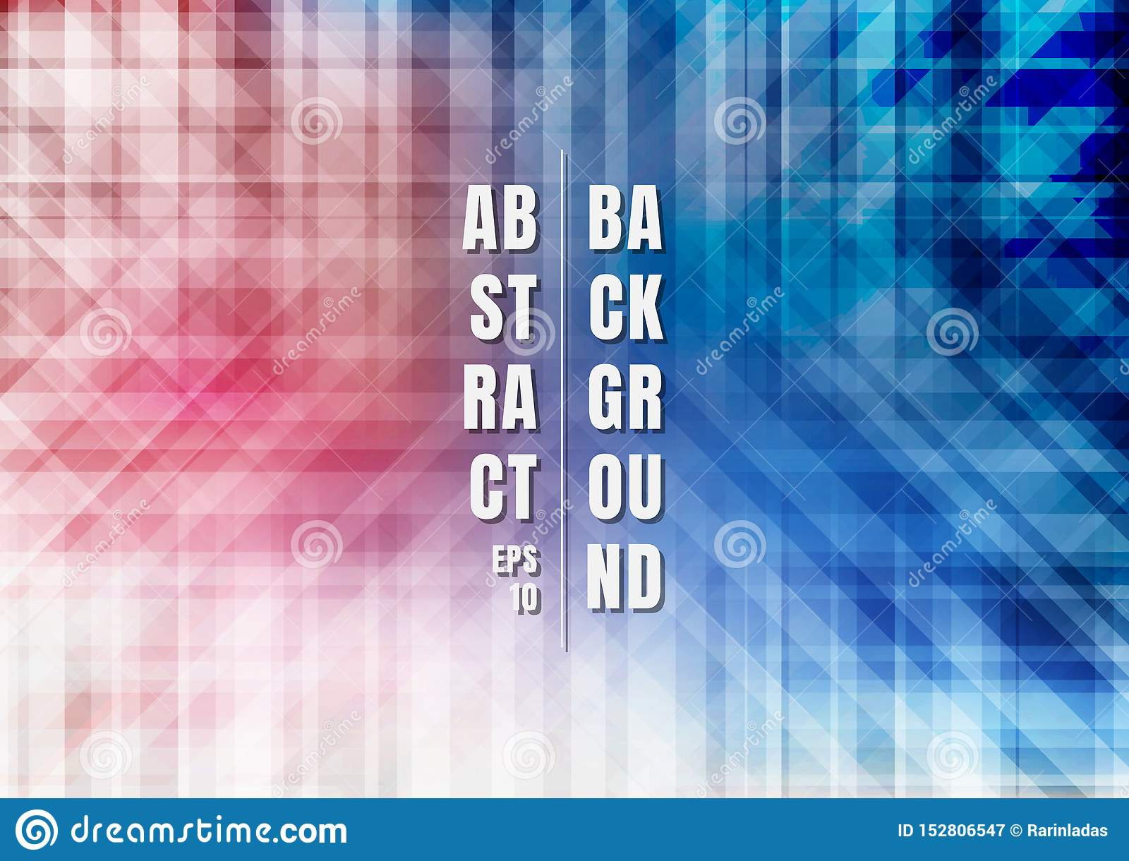Abstract striped geometric colorful blue and red overlapping background technology style