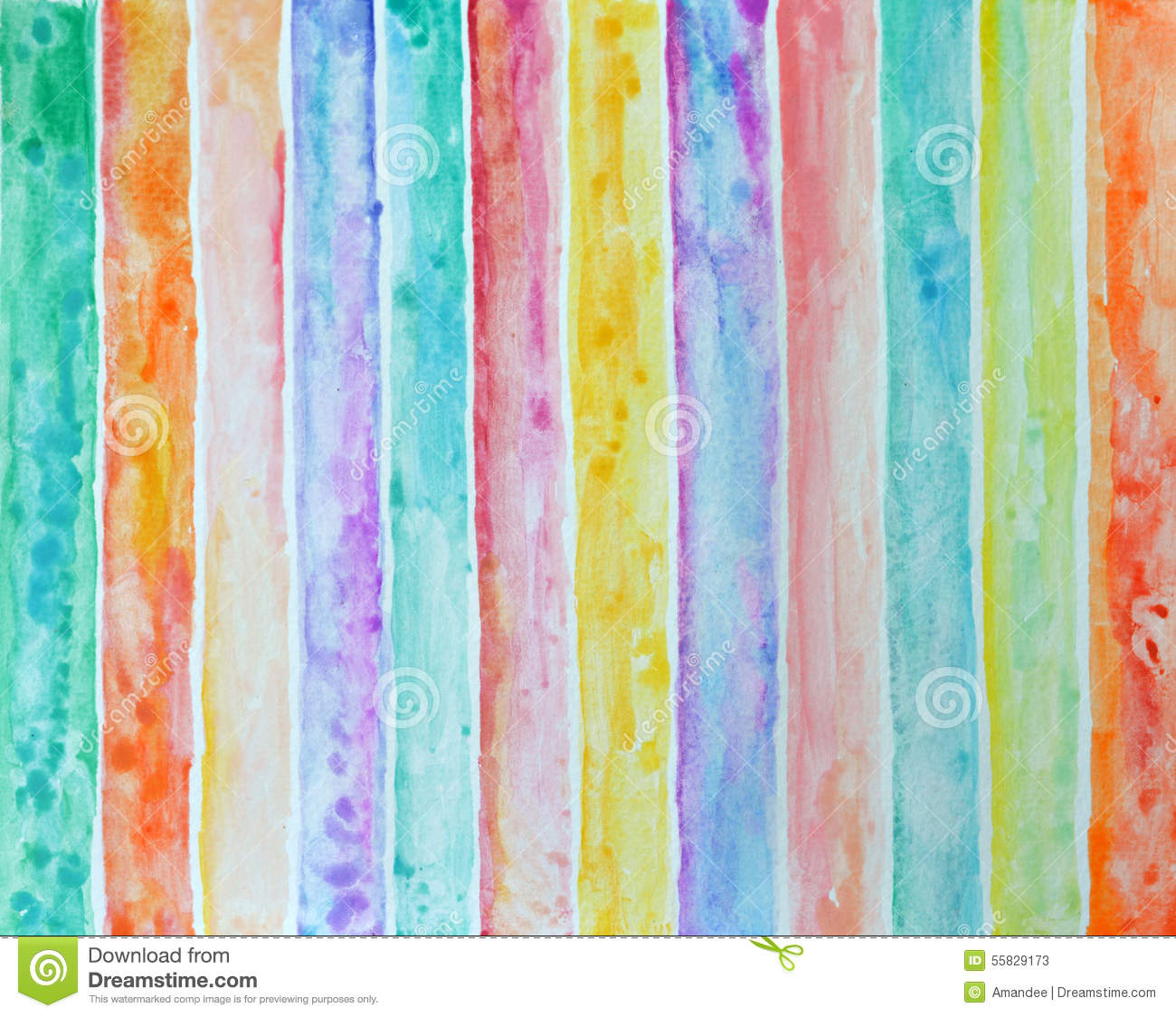 Abstract Striped Pattern Background Watercolor Painting Stock ...