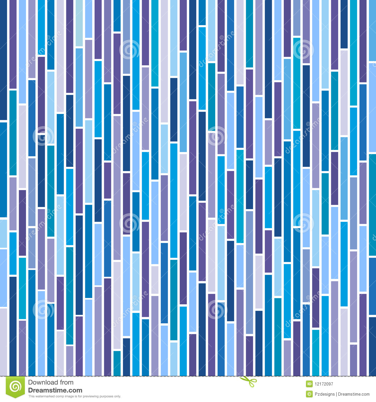 Abstract Stripes in Cool Colours