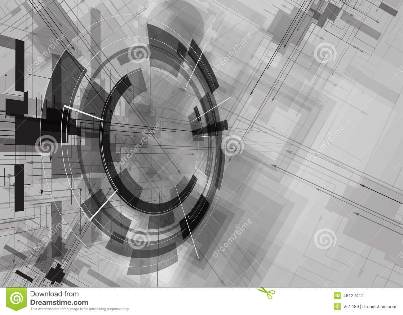 abstract structure circuit computer cube technology business bac cartoon vector