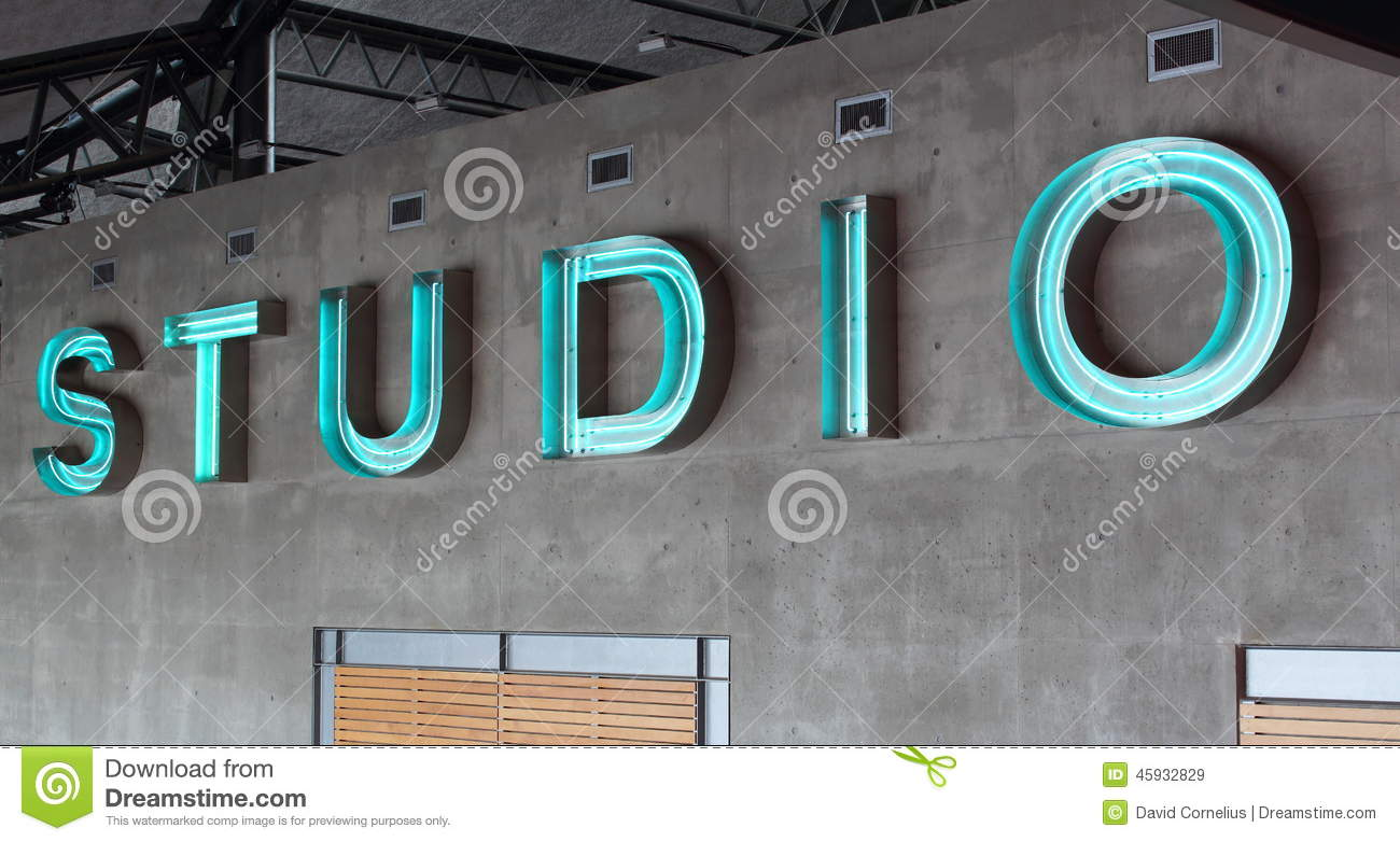Abstract Studio Sign Stock Photo Image 45932829