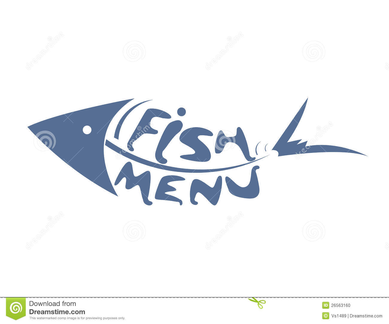 Abstract stylized scaled fish for restaurant menu stock for Max fish menu
