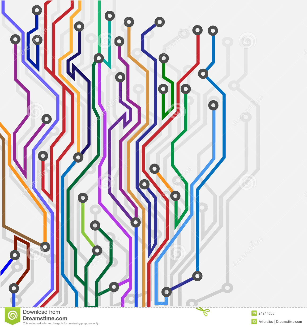 Abstract subway map