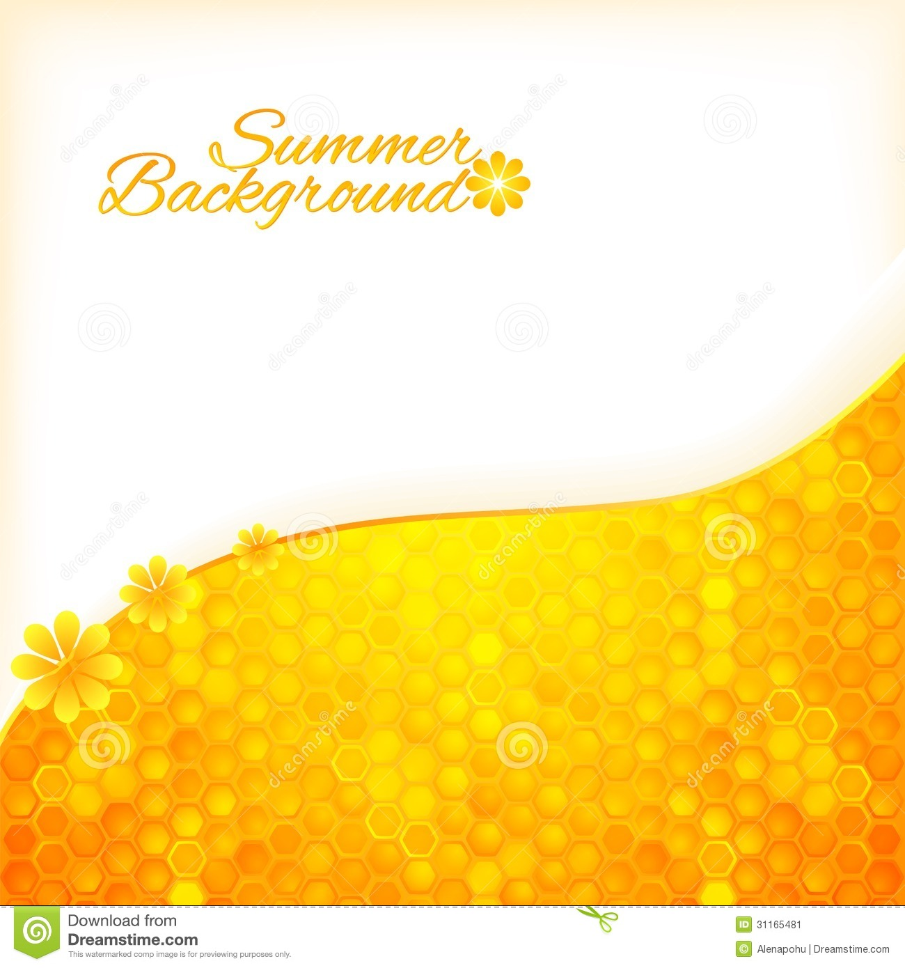Abstract Summer Background With Honey Stock Image Image