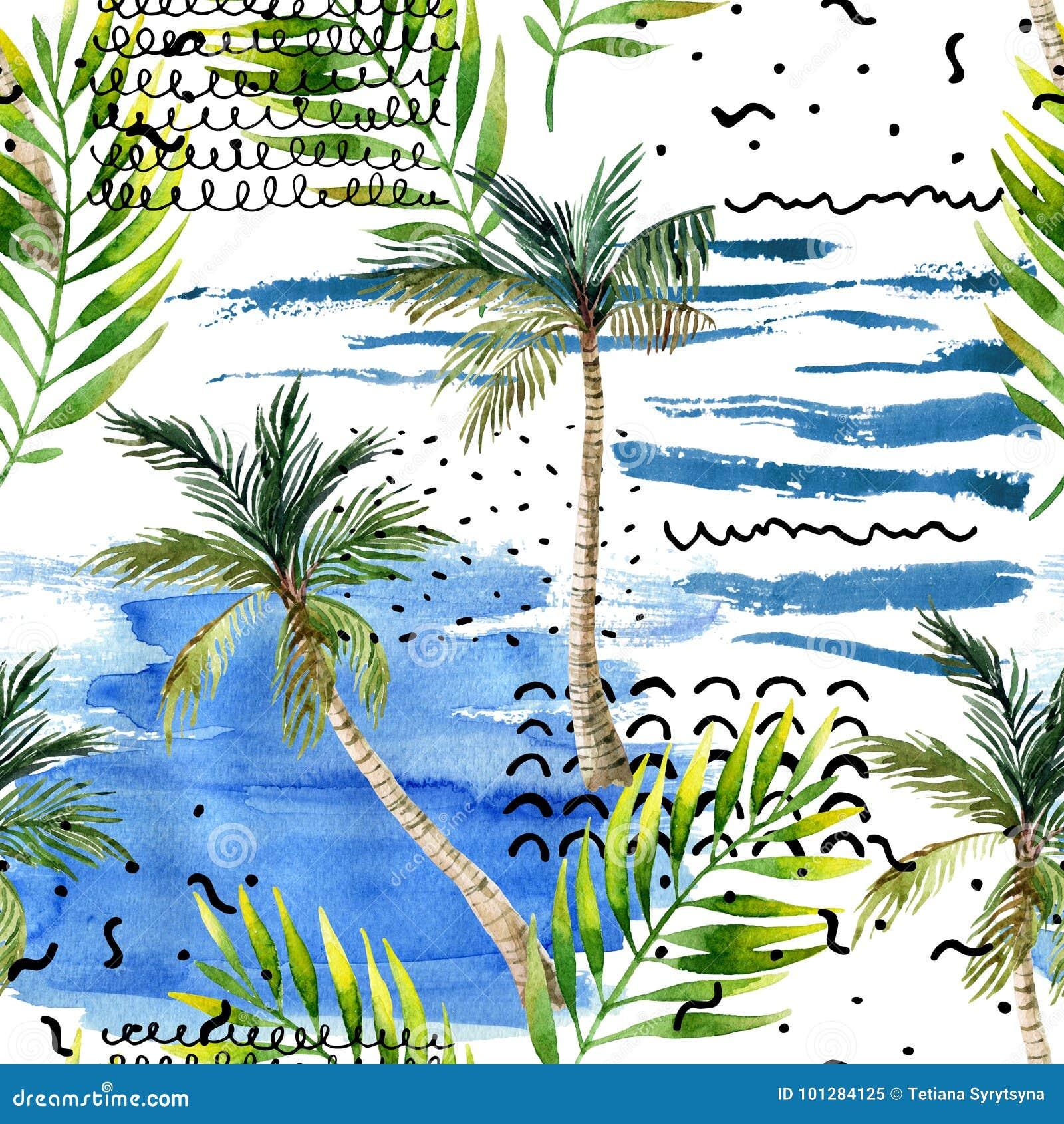 Abstract Summer Natural Seamless Pattern. Stock