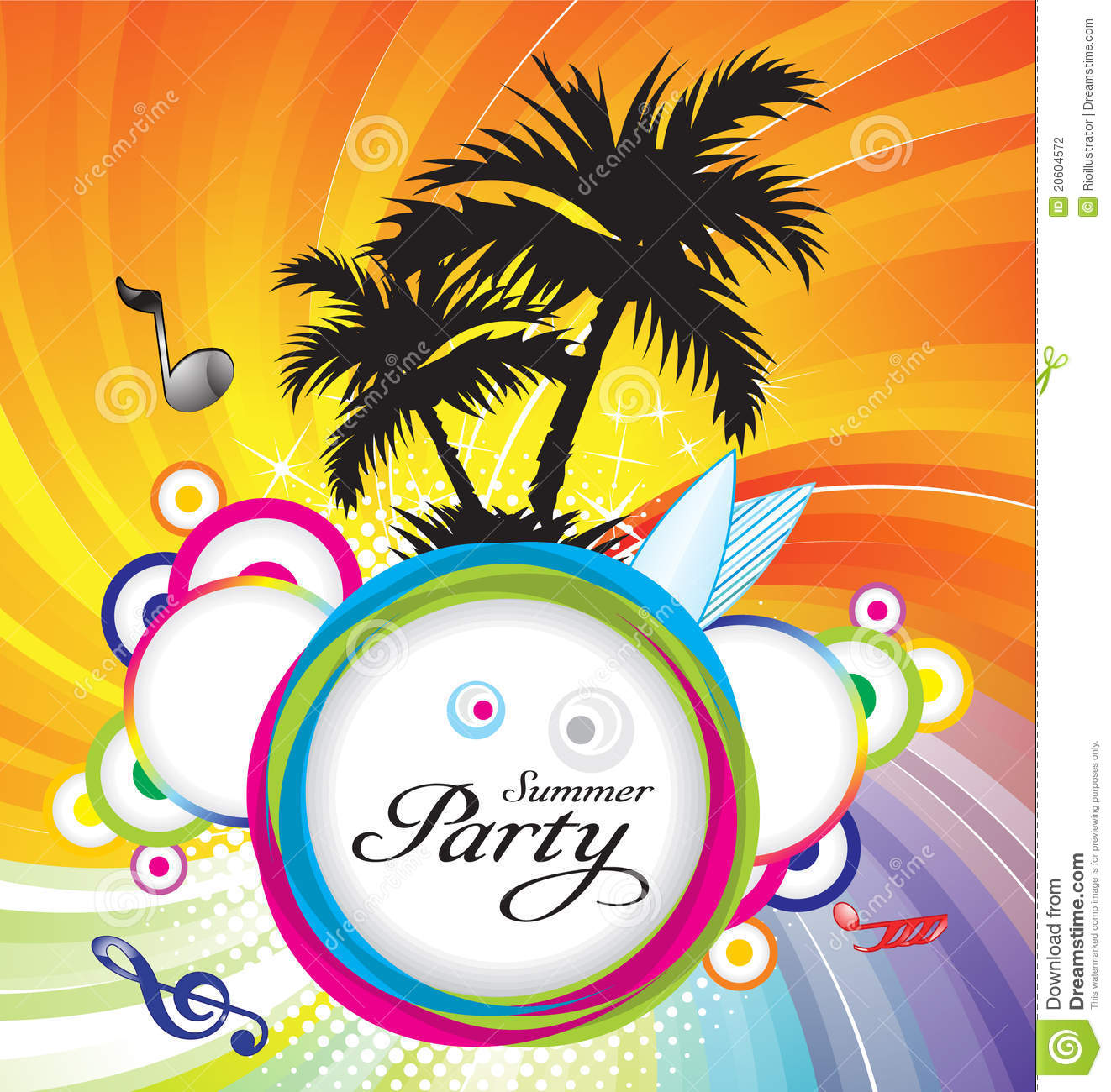 Abstract Summer Party Background Stock Vector Image