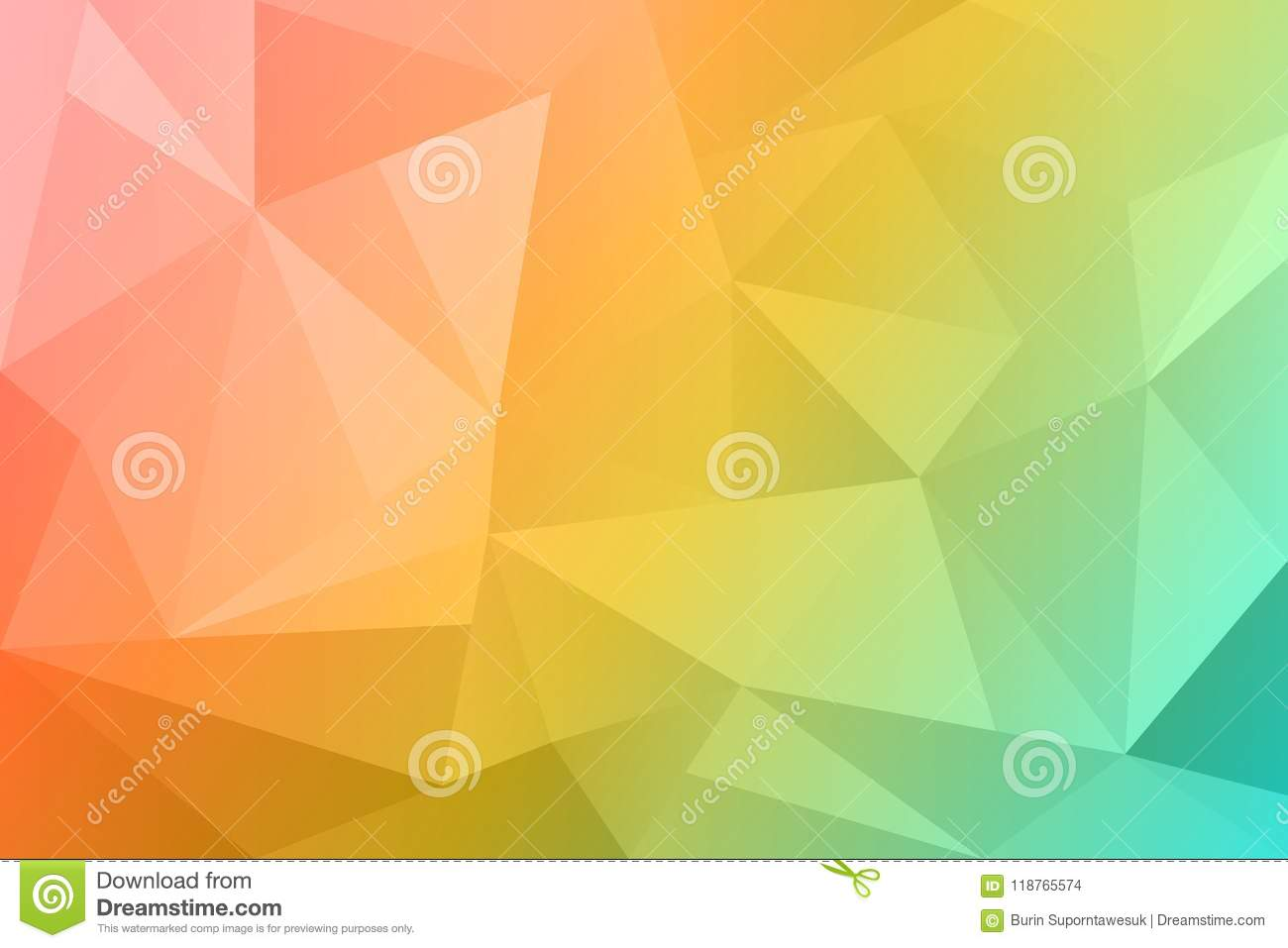 Abstract summer polygonal background. Spring nature orange color