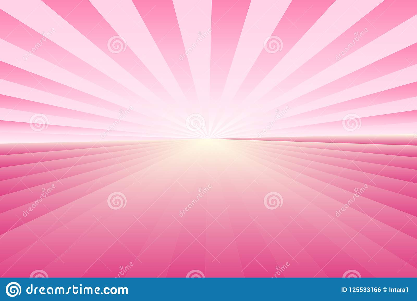 Abstract Sunburst Pattern Gradient Pink Ray Colors With Center