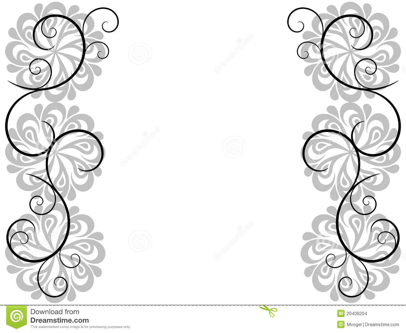 Abstract Swirl Border Background Stock Images