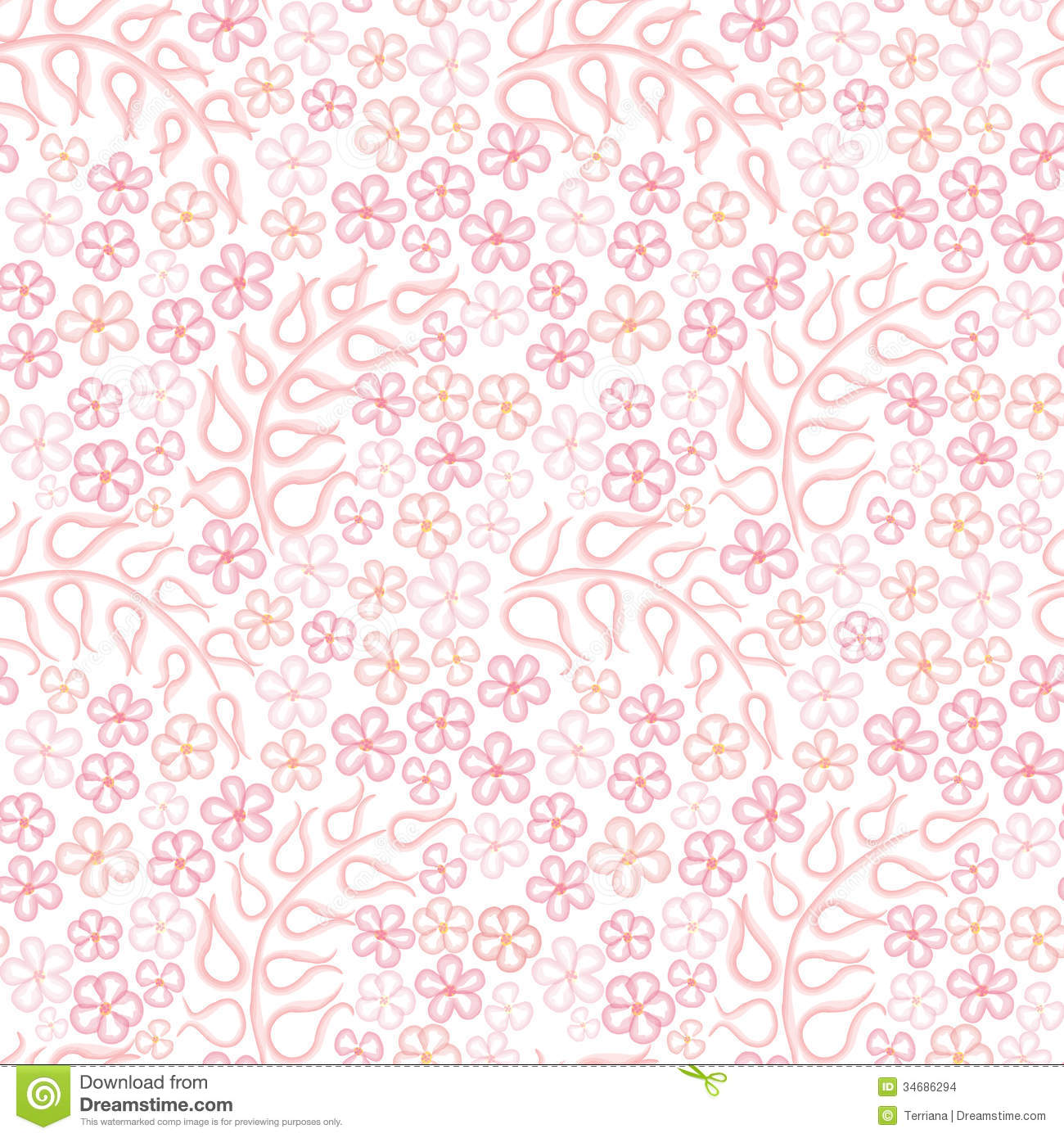 Pink floral seamless vector background floral hrysanthemum seamless - Abstract Background Chamomile Floral Flower Pattern Pink Seamless