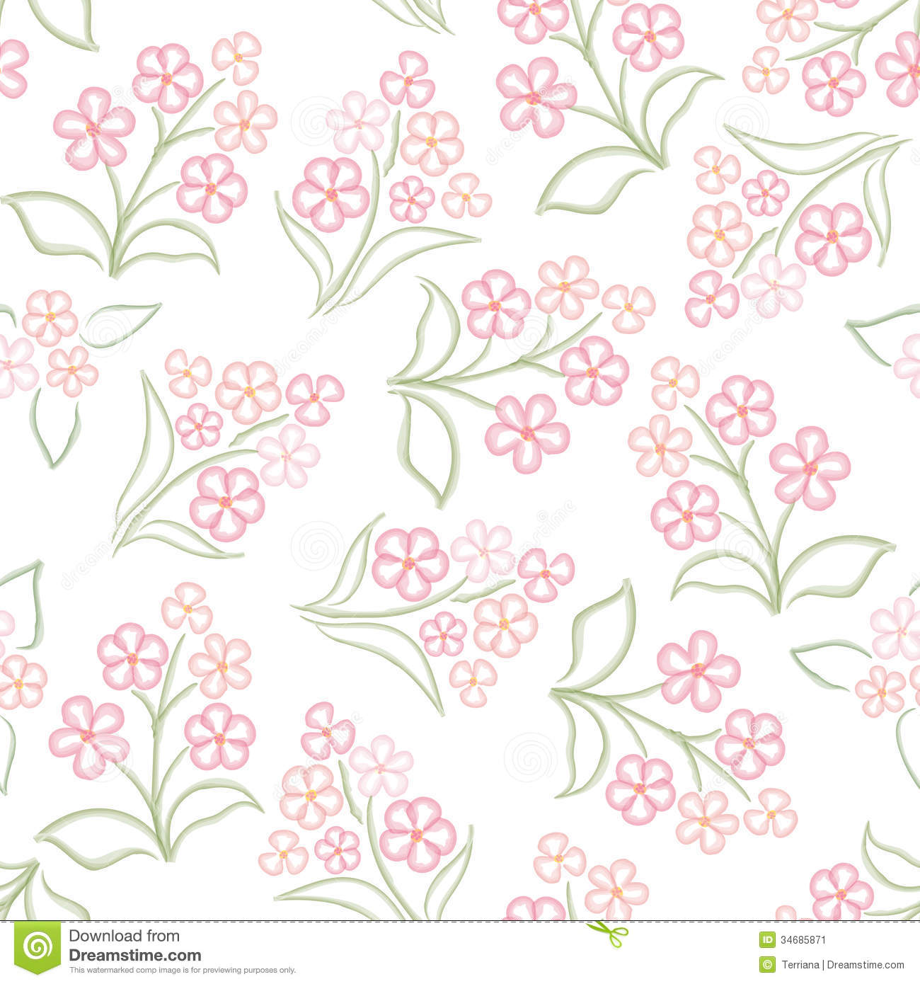 Pink floral seamless vector background floral hrysanthemum seamless - Abstract Background Floral Flower Pattern Pink Seamless