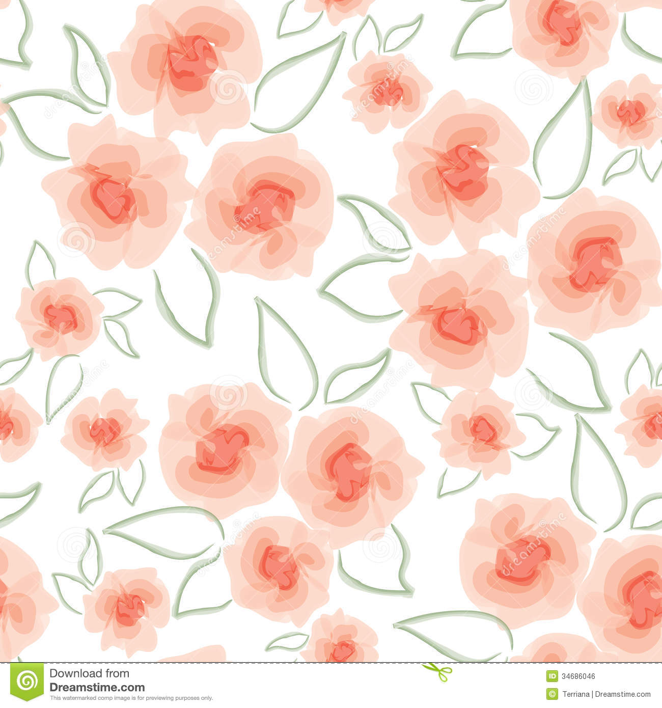 Pink floral seamless vector background floral hrysanthemum seamless - Abstract Swirl Flower Texture Royalty Free Stock Image