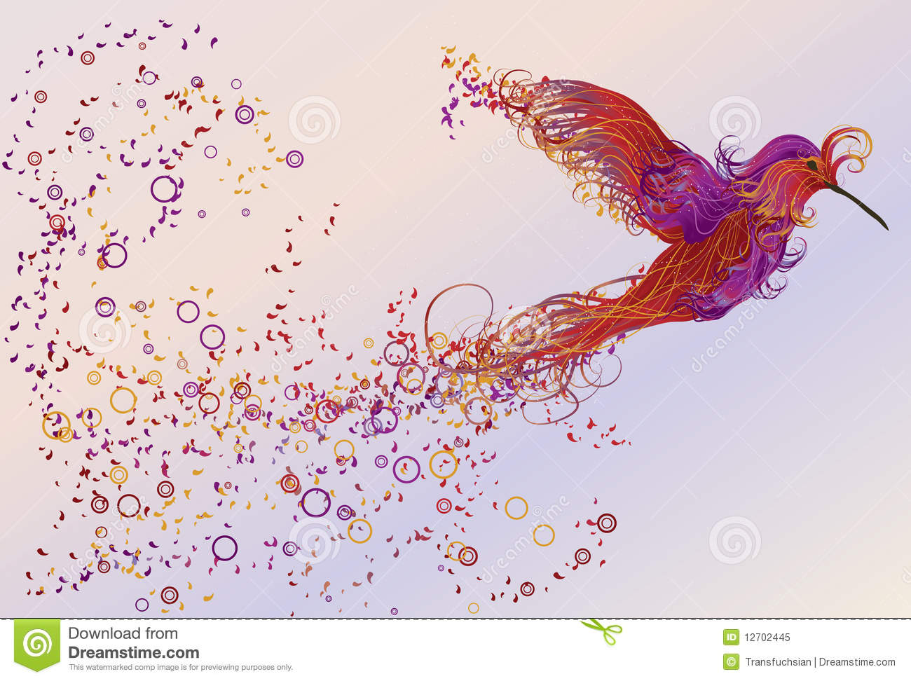 ... Humming Bird Illustration Royalty Free Stock Photo - Image: 12702445