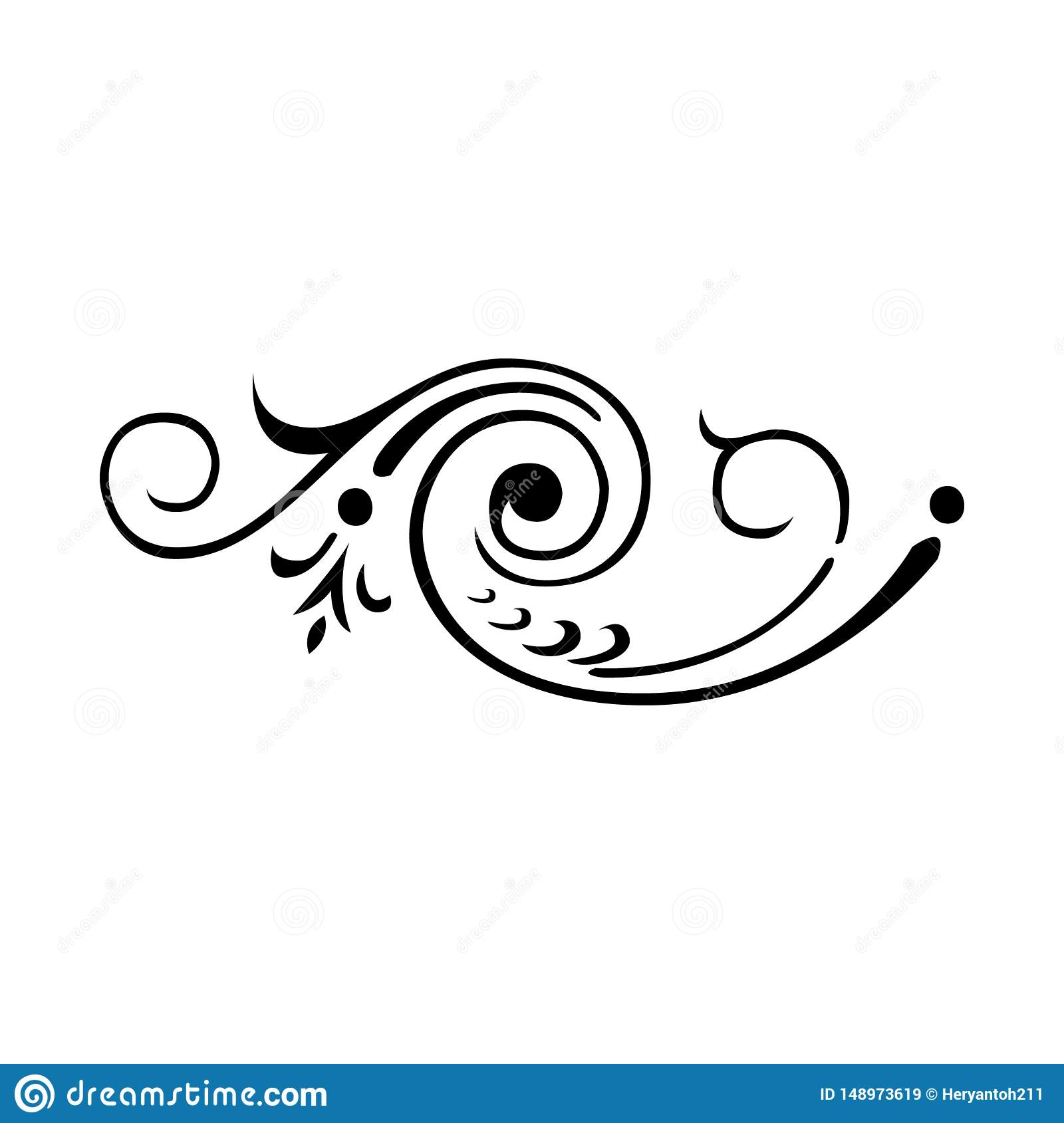 The Abstract Symbol With A Simple Batik Design Stock