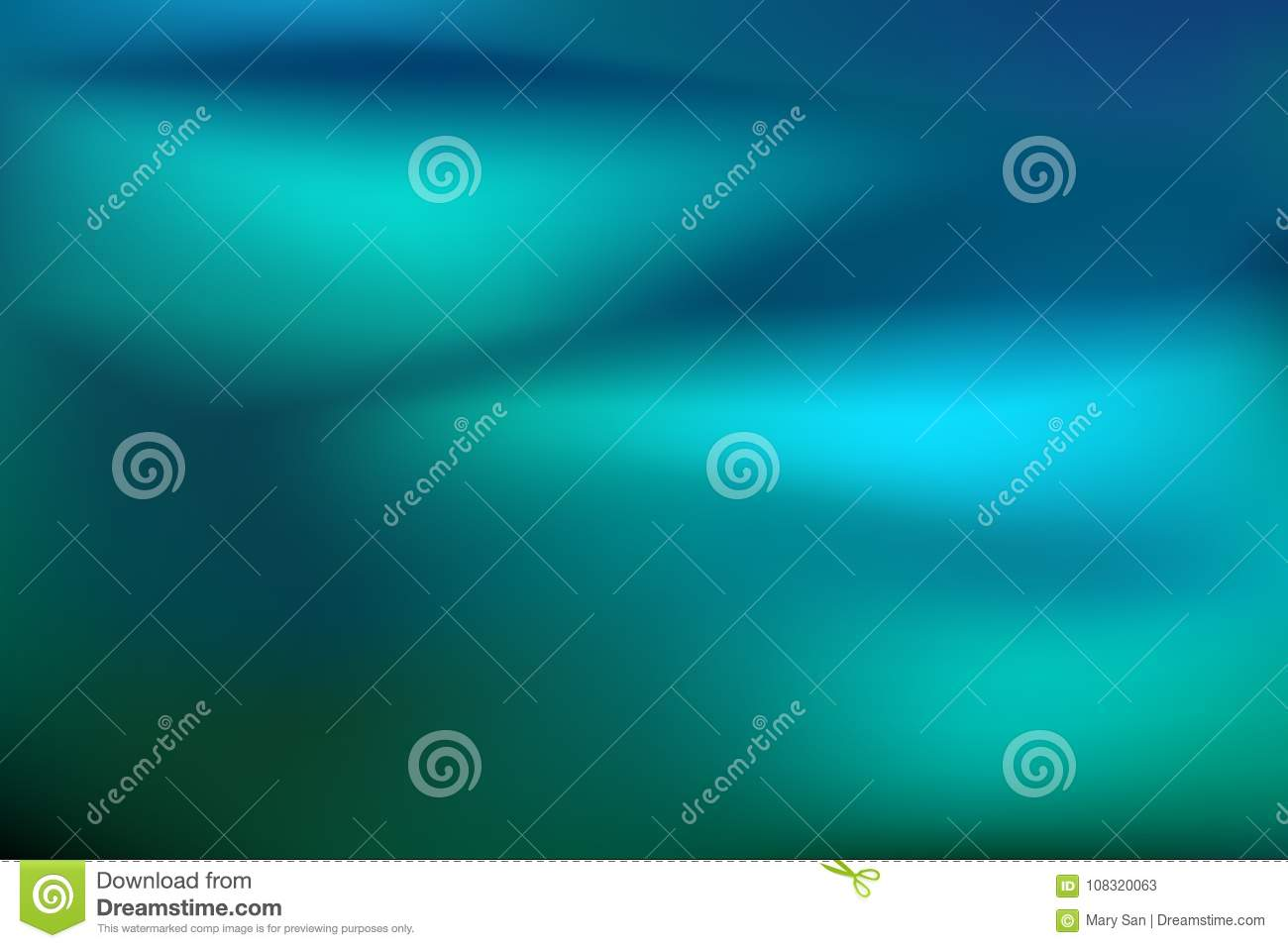 Abstract teal background. Blurred turquoise water backdrop. Vector illustration for your graphic design banner or aqua