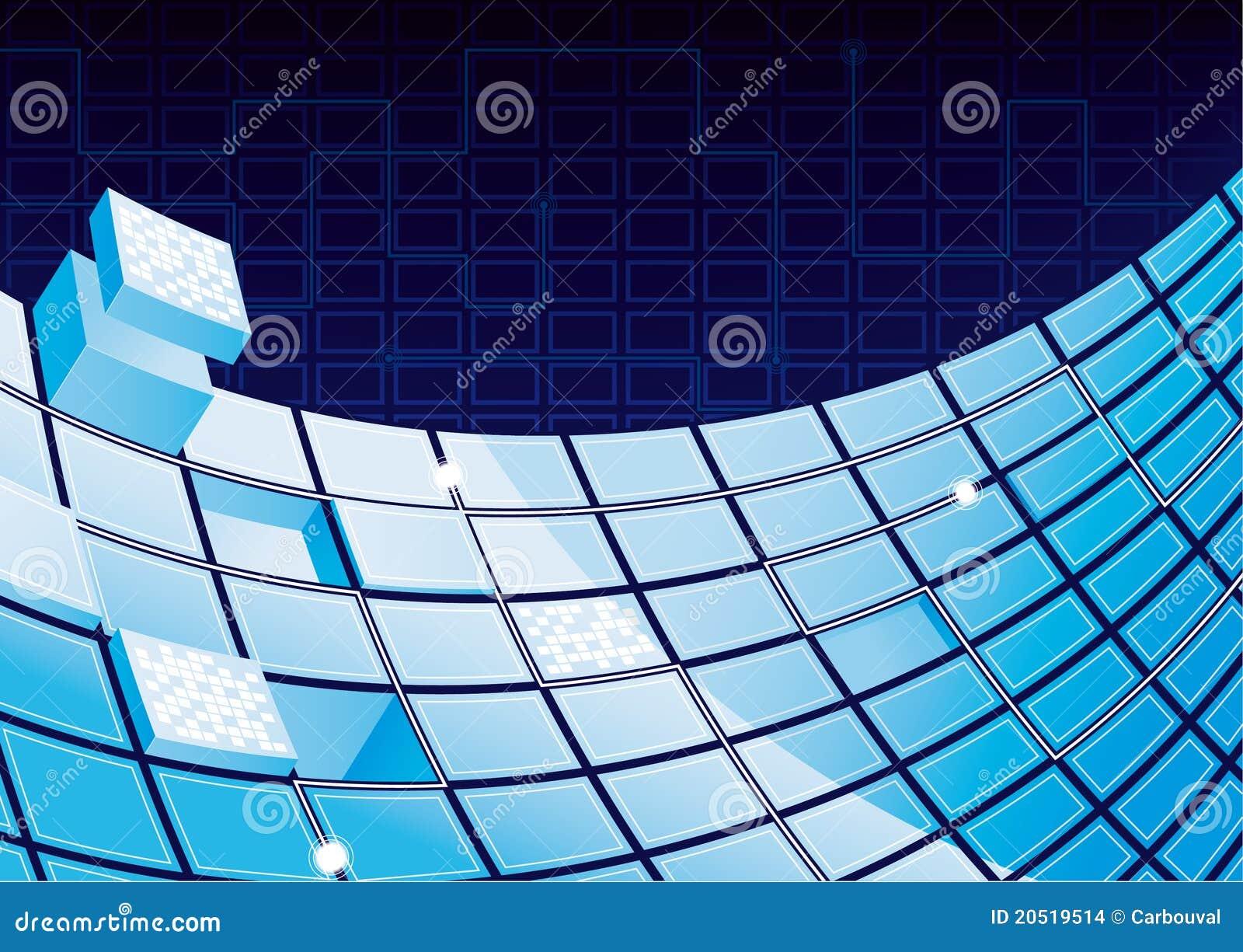 Abstract Tech Background Stock Illustration  Illustration