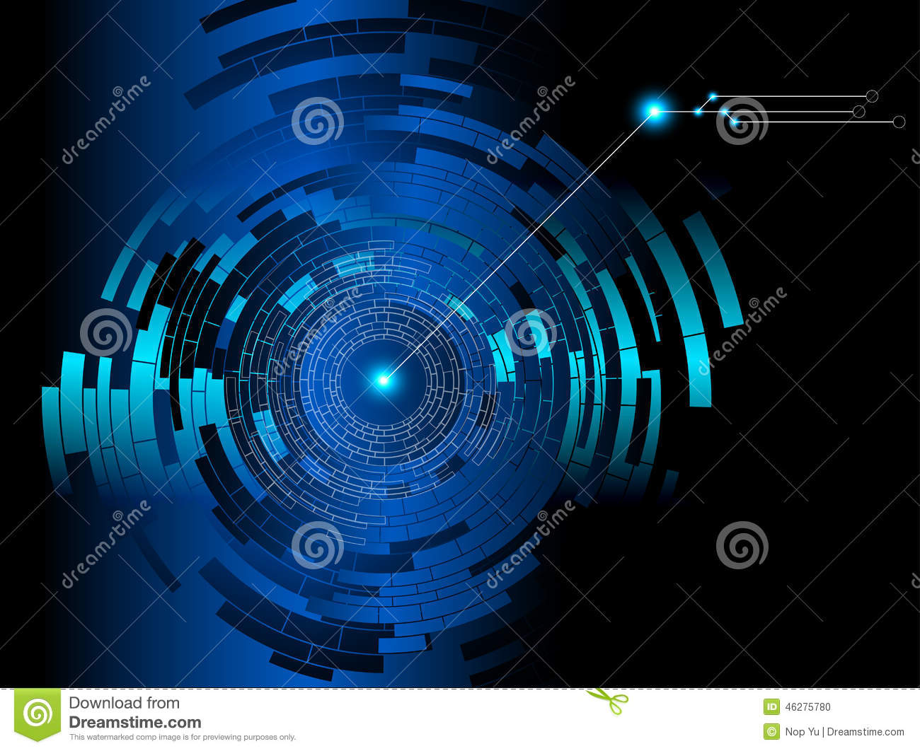 Blue Technology: Abstract Tech Blue Background Stock Vector