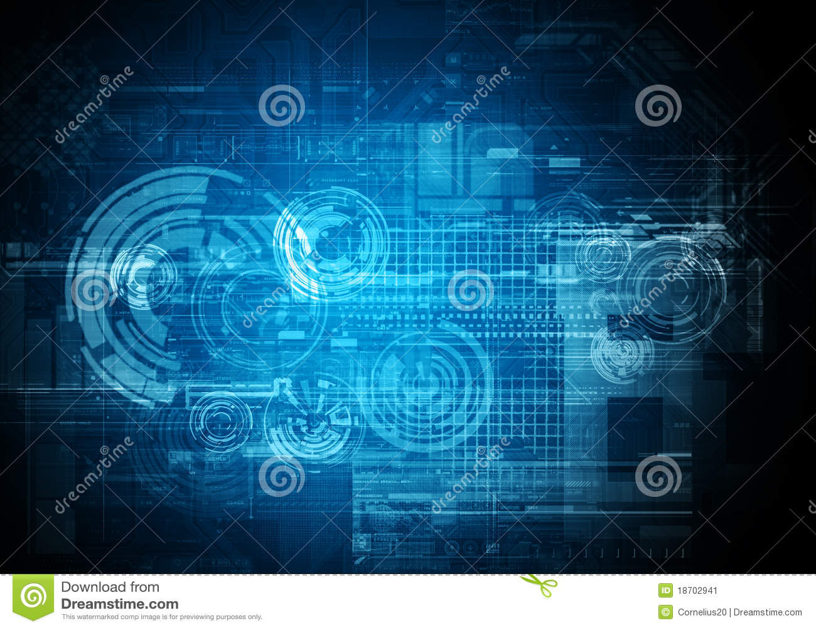 Abstract Tech Design Stock Illustration  Illustration Of Lights
