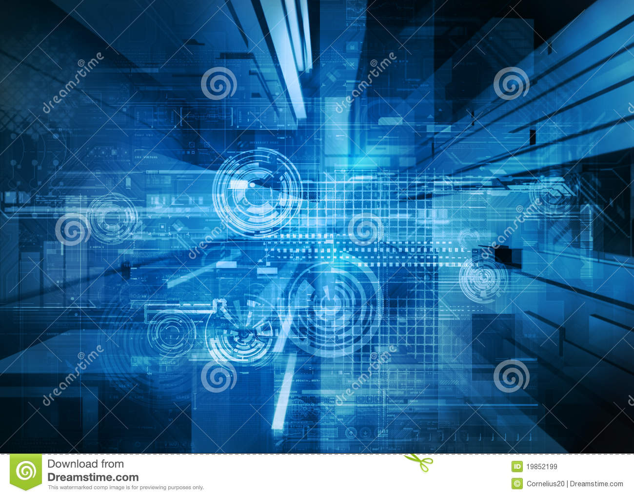 Abstract tech design stock illustration image of line for Design teich