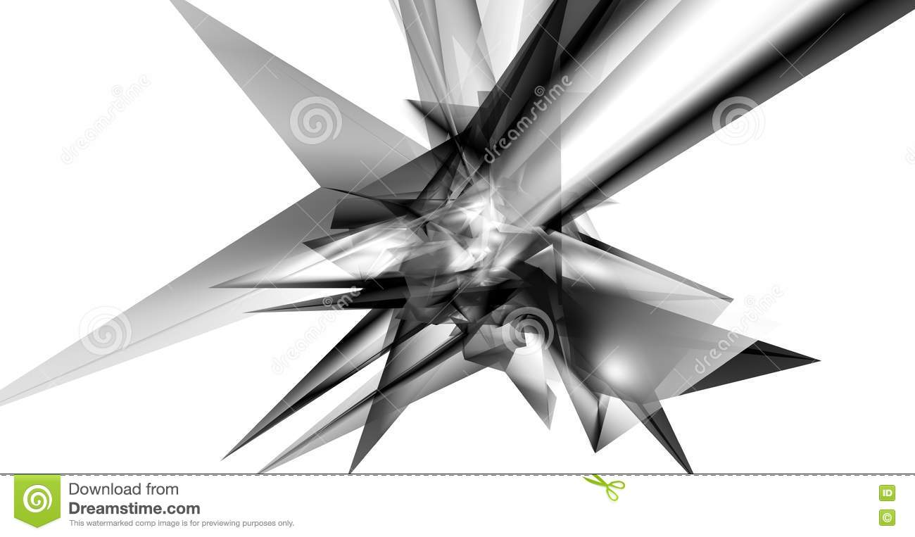 Abstract techno background of triangles