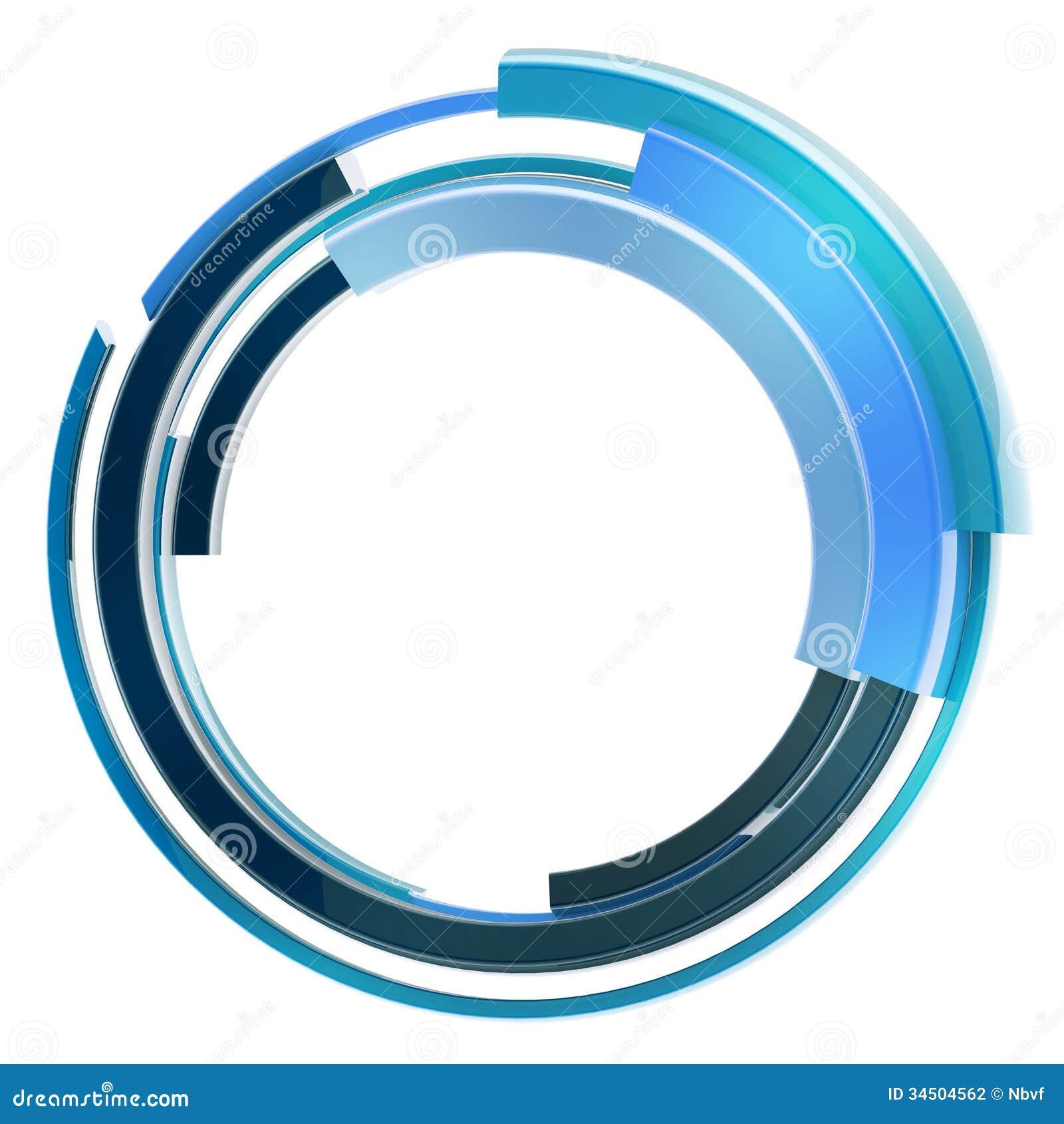 Abstract Techno Circular Frame Border Isolated Stock