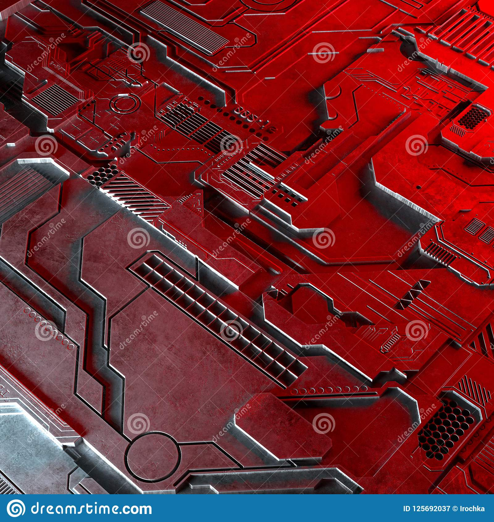 Download Abstract Technological Background Made Of Different Element Printed Circuit Board And Flares. Stock Illustration - Illustration of communication, chip: 125692037