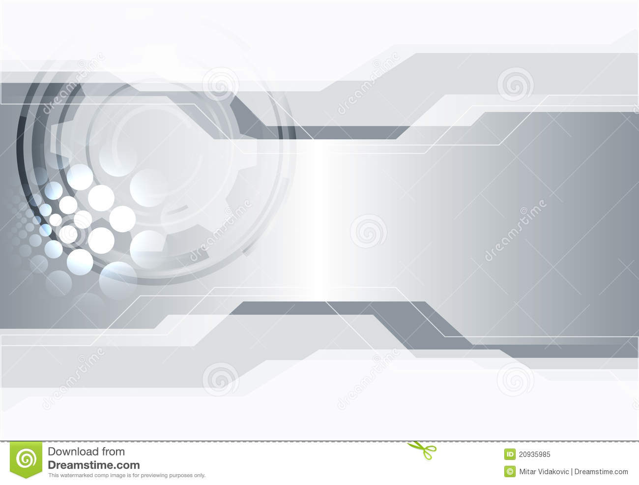 Abstract silver white technology background with space for your text.