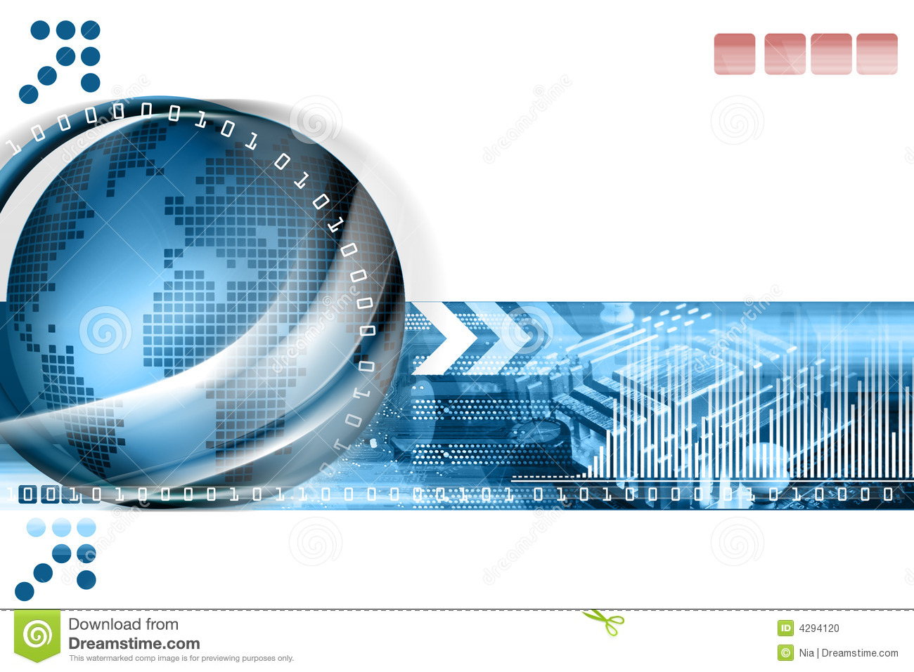 Abstract Technology Background Stock Photo  Image: 4294120