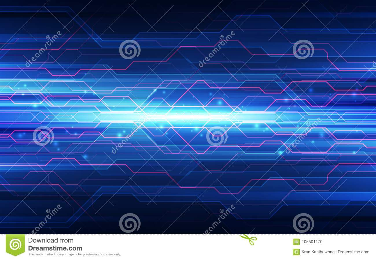 abstract technology background circuit board and html code 3d stock
