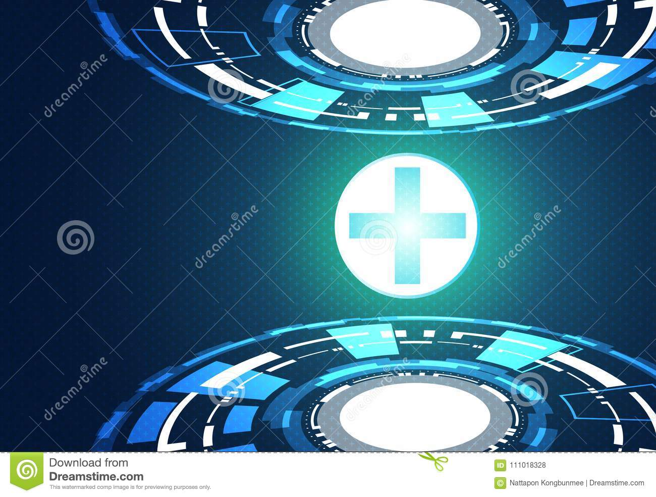 Abstract Technology Background Concept Health Green Blue Digital