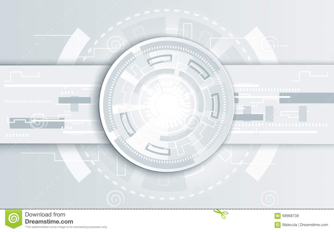Futuristic Hi Tech Background Vector: Abstract Technology Background Illustration Stock Vector