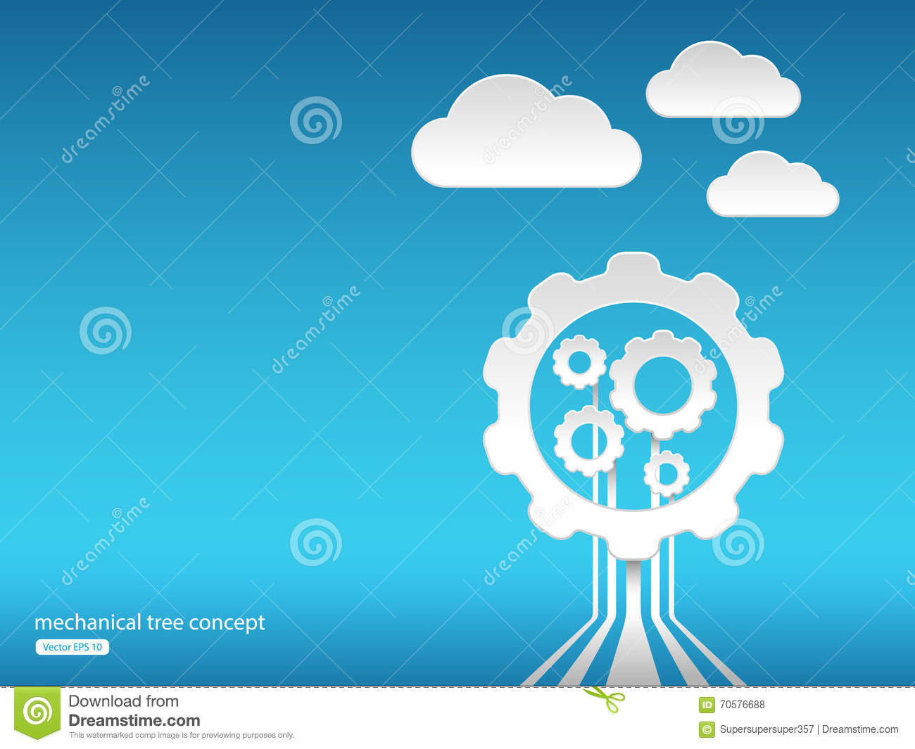 Abstract Technology Background Stock Vector - Illustration of tree ...