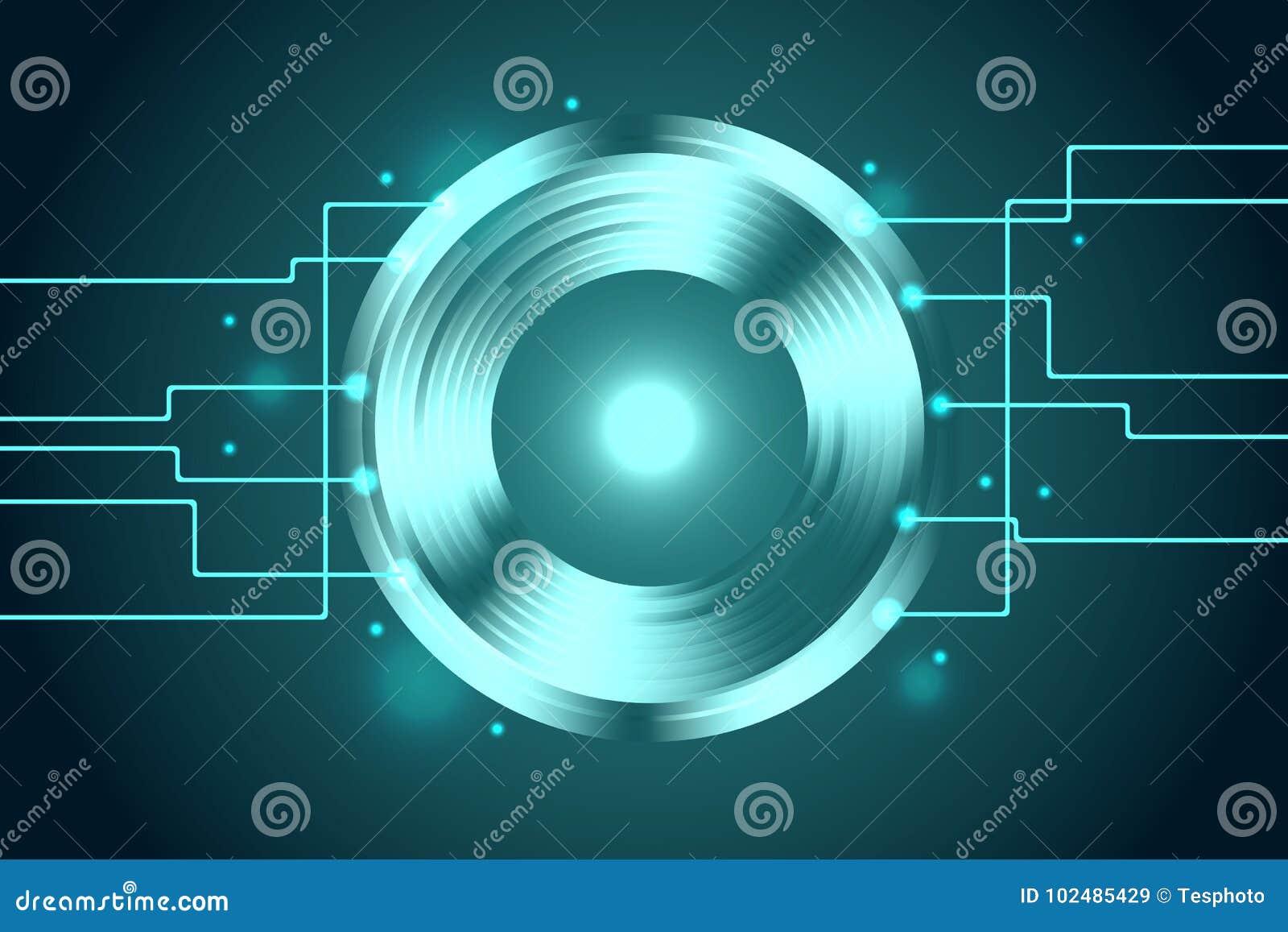 Abstract Technology Background Data Transfer Vector Illustr Stock