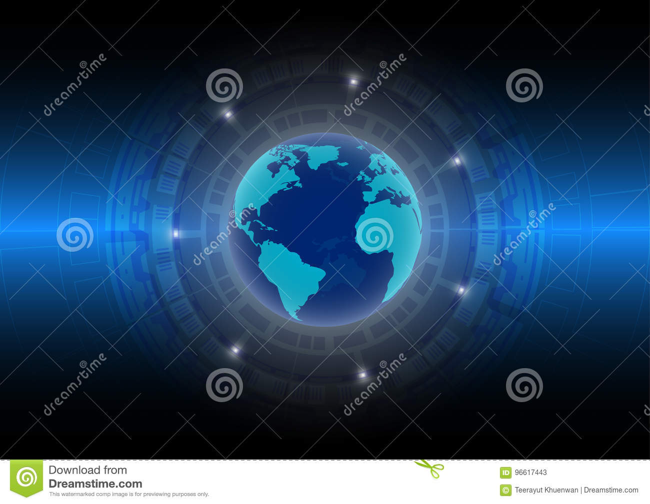 Abstract technology background World in the digital age; future technology concept