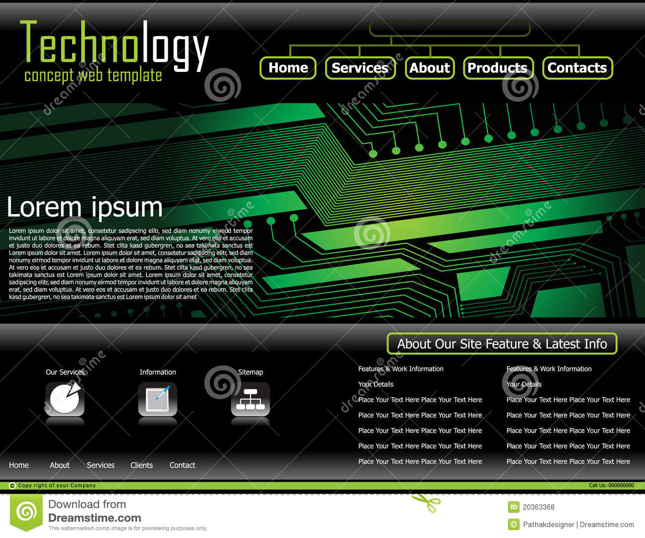 Abstract Technology Based Web Template Royalty Free Stock Photos ...