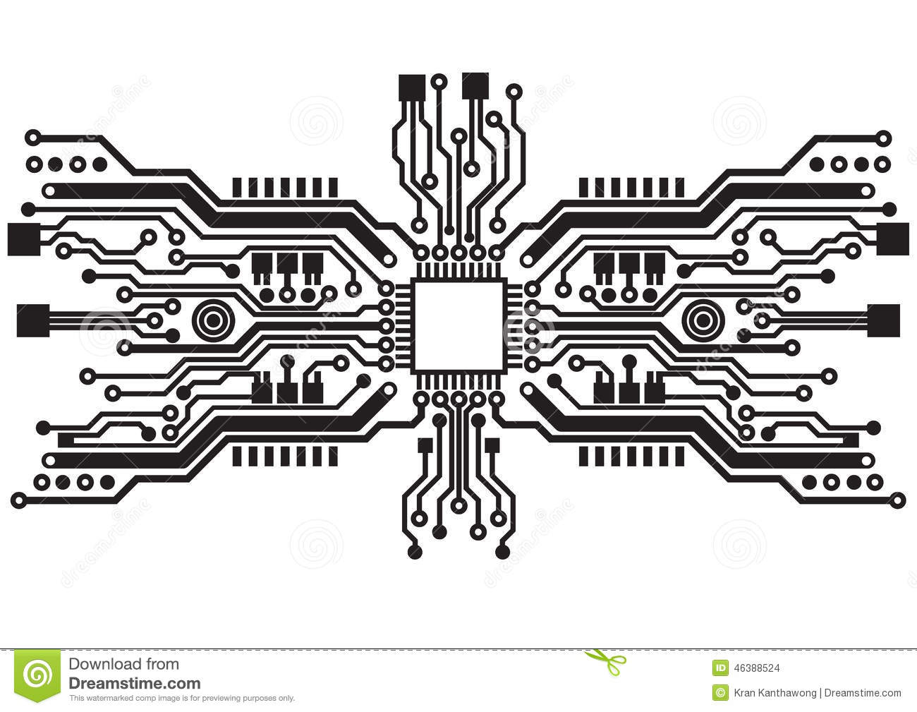 abstract circuit board background texture vector